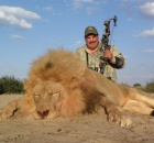 Lion killed Bow_Arrow